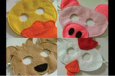 Felt animal masks I make -
