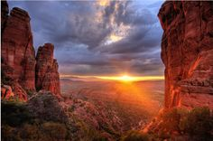 Gorgeous sunrise at the Enchantment Resort in Sedona, Arizona