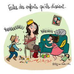 Illustration par Crayon d'Humeur pour Charles & Alice : Bientôt la fin des vacances. Courage :)