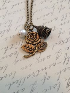 Beauty and the beast fly away birdcage rose by RedLanternDesigns