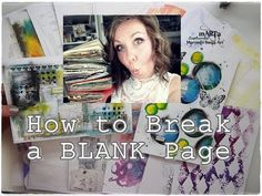 How to Break A Blank Page? Mixed Media Art Journaling for Beginners part 2 - YouTube