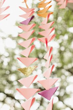 Mini Triangle Ombré Ceremony Backdrop available in custom colors and sizes