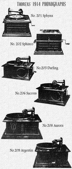 Thorens Phonographs 1914 catalog gramophones vintage 78 Records, Vinyl Records, Sphynx, Radios, Talking Machines, Vintage Dance, Audio Room, Record Players, Home Tv