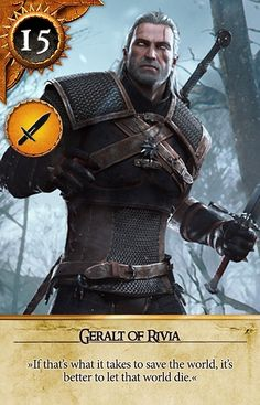 Geralt of Rivia (Gwent Card) - The Witcher 3: Wild Hunt