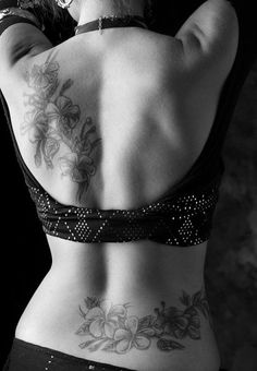 Need ideas to cover up my current one on my lower back...loving the idea of connecting it to my ribs! This may be the solution I've been looking for!