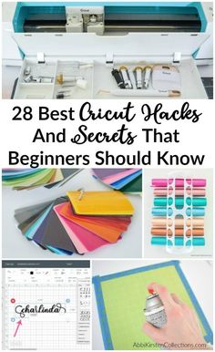 Circuit Projects Discover Cricut Hacks The Every Beginner Should Know - 28 Cricut Tips and Tricks The best 28 Cricut and Design Space Hacks that every beginner should know. These Cricut hacks will keep you organized and help you in Design Space! Cricut Air 2, Cricut Mat, Cricut Craft Room, Vinyl For Cricut, Tips And Tricks, Teacher Hacks, Proyectos Cricut Explore, Paper Cutting, Cricut Explore Projects