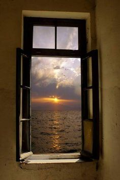 - Doors and Windows - - bildzeichnen Looking Out The Window, Through The Looking Glass, Window View, Open Window, Beautiful World, Beautiful Places, Beautiful Ocean, Beautiful Scenery, Through The Window