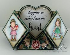Hello.   This is my version of a Double Diamond Fold Card. Here are a couple samples of the Double Diamond Fold cards that I've created.   ...