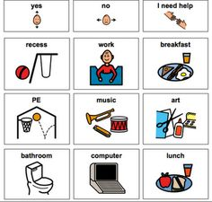 Schedule at School free download for AAC and early language