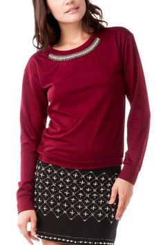 Timpson Embellished Sweatshirt  | Francesca's