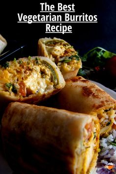 Spicy Paneer Burrito Recipe is a wrap filled with flavored Indian Cottage cheese, rice mix, homemade sour cream, and salsa. These burritos stuffed with paneer can also be packed for kid's lunch boxes.