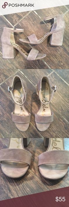 4e5dcaf98a8 🆕LIST- Sam Edelman Chunky Heel Ankle Strap Sandal Preloved in like new  condition.