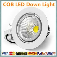 High quality downlighting, cnlights provides outside downlights and wiring downlights of different shapes and colors, buy the  Free Shipping LED Downlight Dimmable 9W 12W 15W 18W 21W 110V 220V Ceiling Down Light COB Lamps LED Recessed Indoor Lighting For Home you love here and decorate your house!