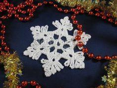 Снежинки к Новому году крючком. Мастер-класс с пошаговыми фото