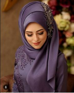 Fancy Hijab Accessories Fashion for Formal Function – Girls Hijab Style & Hija. Fancy Hijab Accessories Fashion for Formal Function – Girls Hijab Style & Hijab Fashion Ideas Wedding Hijab Styles, Hijab Wedding Dresses, Hijab Dress, Muslim Dress, Prom Dresses, Square Hijab Tutorial, Hijab Style Tutorial, Islamic Fashion, Muslim Fashion