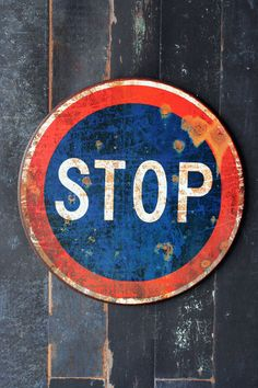 i want for my home.. Metal Stop Sign