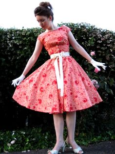 Maybe you've been pinning catalogs of dresses like this, yet wondering if anyone is lady enough to wear them. Katrina Casey of Edelweiss Patterns is, and does. I love that she's not ashamed to enjoy being a woman.