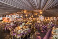 Purple? Yes please! (Florals by The Hidden Garden) #wedding #chameleonchair http://www.hiddengardenflowers.com/2014/03/beverly-hilton-wedding-miracle-transformation/