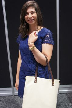 Blue lace trend as seen on Chloe of @popcosmo at #BlogHer13