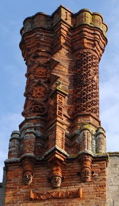 Oldest, functioning Tudor style chimney, Thornbury Castle where Ann Boleyn and Henry VIII stayed in 1535