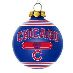 Keith's tree. Chicago Cubs Official MLB 3 inch x 3 inch Plaque Ball Ornament by Forever Collectibles