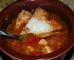 Weight Watchers Chicken Tortilla Soup Recipe -Easy Crockpot Meal!