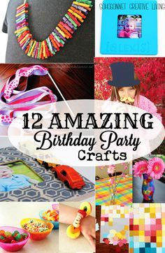 12 fun, easy, cheap and low mess craft activities you can do with kids of all ages. These craft activities are great for birthday parties!