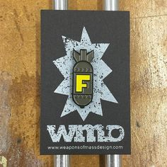 1 tall enamel pin. Nothing says class like droppin the f-bomb where ever you go.