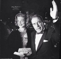 Humphrey Bogart and Lauren Bacall at the 27th Academy Awards