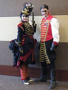 """Steampunk pirates""... I think mish-mash: Captain Hook's crew from Wonderland"