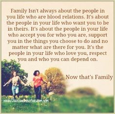 Daveswordsofwisdom.com: Family Is Not Always Blood Relations