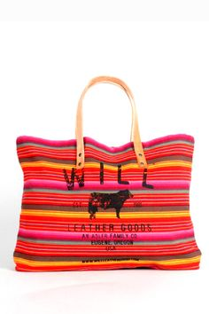 Red Striped Guatemalan Tote.