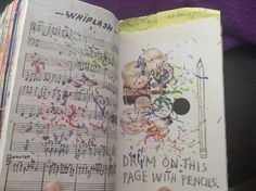 Wreck this Journal  Drum on this page with pencil. Whiplash! Good movie!