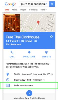 Local Google Adds Link To Place Food Delivery Orders, Make Doctor Appointments & More Shortly after Bing launched food delivery ordering through Bing Maps, Google does the same but adds appointment booking and other delivery options.