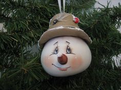 Snowman Ornament / with hat