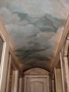 Tuscan Design Ideas, Pictures, Remodel and Decor Fresco, Cloud Ceiling, Barrel Ceiling, Deco Restaurant, Ceiling Murals, Tuscan Design, Tuscan House, Ceiling Design, Paint Designs