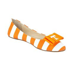 University of Tennessee Gameday Flats and University of Tennessee Shoeclip lillybee.com $58