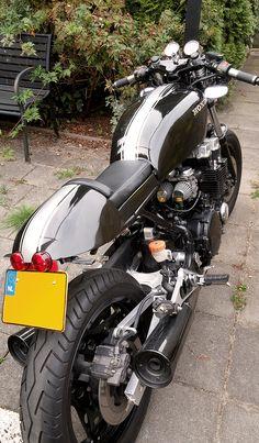 Honda CBX 750F 1988. Cafe Racer 2016. Air/oil cooled engine.