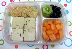 BentoLunch.net - Day Camp Day 4 Puzzle Bento @easylunchboxes #lunchpunch