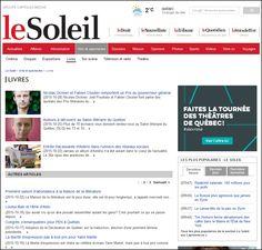 Aujourd'hui, le 21 novembre 2015, le plus récent article traitant du livre dans le quotidien LE SOLEIL de Québec date du 28 octobre 2015. On compte donc plus de trois semaines sans aucune couvertur...
