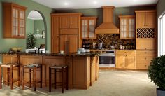 honey oak kitchen cabinets - Google Search