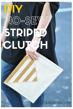 DIY No-Sew Striped C