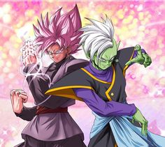 Black Goku and Zamasu