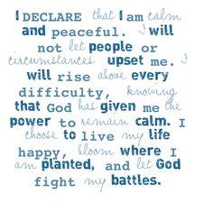 This is my declaration - Joel Osteen