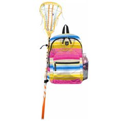 Scout's Big Draw Lacrosse Backpack  A backpack designed for girl lacrosse players (: ! I NEED to get this ! My bag's getting old & has holes anyways..