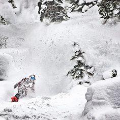 Wolfgang Nyvelt blasting out of the powder!  #snowboarding