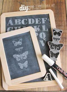 No.54 Hand Stamped Chalk Art