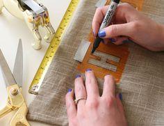 Cómo hacer almohadones con frases en stencil | La Bioguía