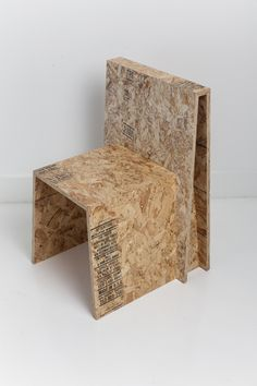 Todd Merrill Studio represents the unique seating by Chris Rucker, innovatively made from recycled construction materials. Challenging an everyday transient object , the Saw Horse Chair is made of … Outside Furniture, Diy Outdoor Furniture, Diy Furniture, Furniture Design, Osb Plywood, Plywood Furniture, Small Woodworking Projects, Contemporary Chairs, Diy Chair