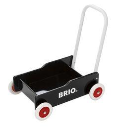 Brio Jouet Premier Age en bois - Chariot de marche - Bois laqué noir